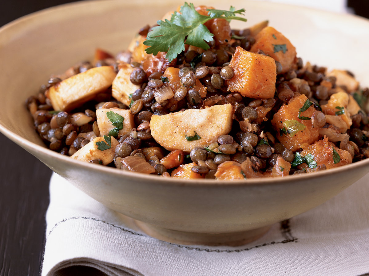 Roasted Butternut Squash and Lentil Salad