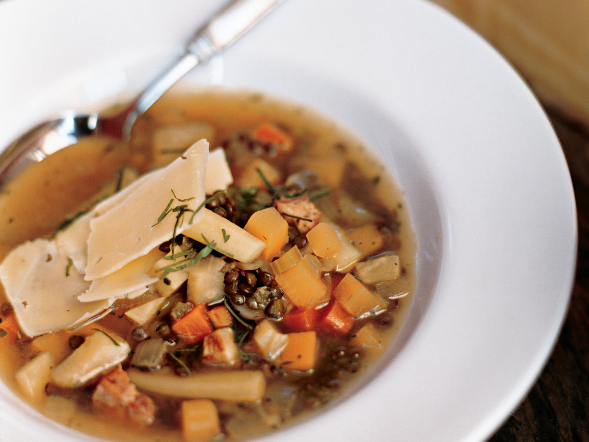 Root Vegetable Soup with Lentils and Gruyère Recipe - Paul ...
