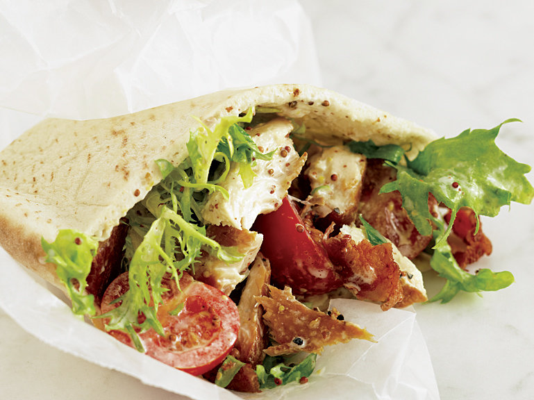 Smoked Trout and Bacon Pitas