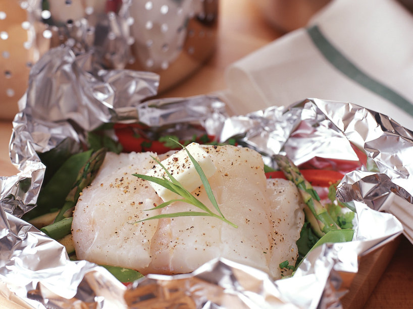 Steamed Cod with Crisp Vegetables