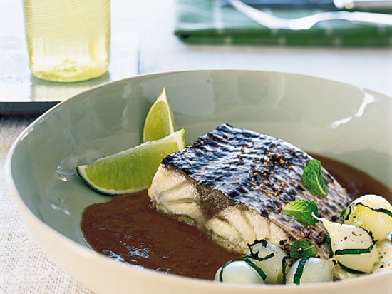 Steamed Sea Bass with Tamarind Sauce