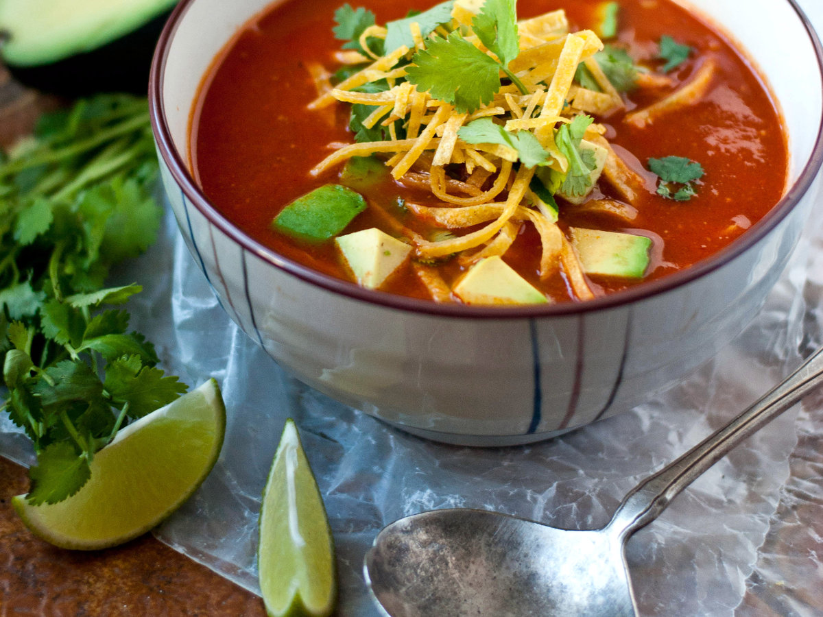Tortilla soup recipe quick from scratch one dish meals food wine original 201310 r tortilla soupg forumfinder Choice Image