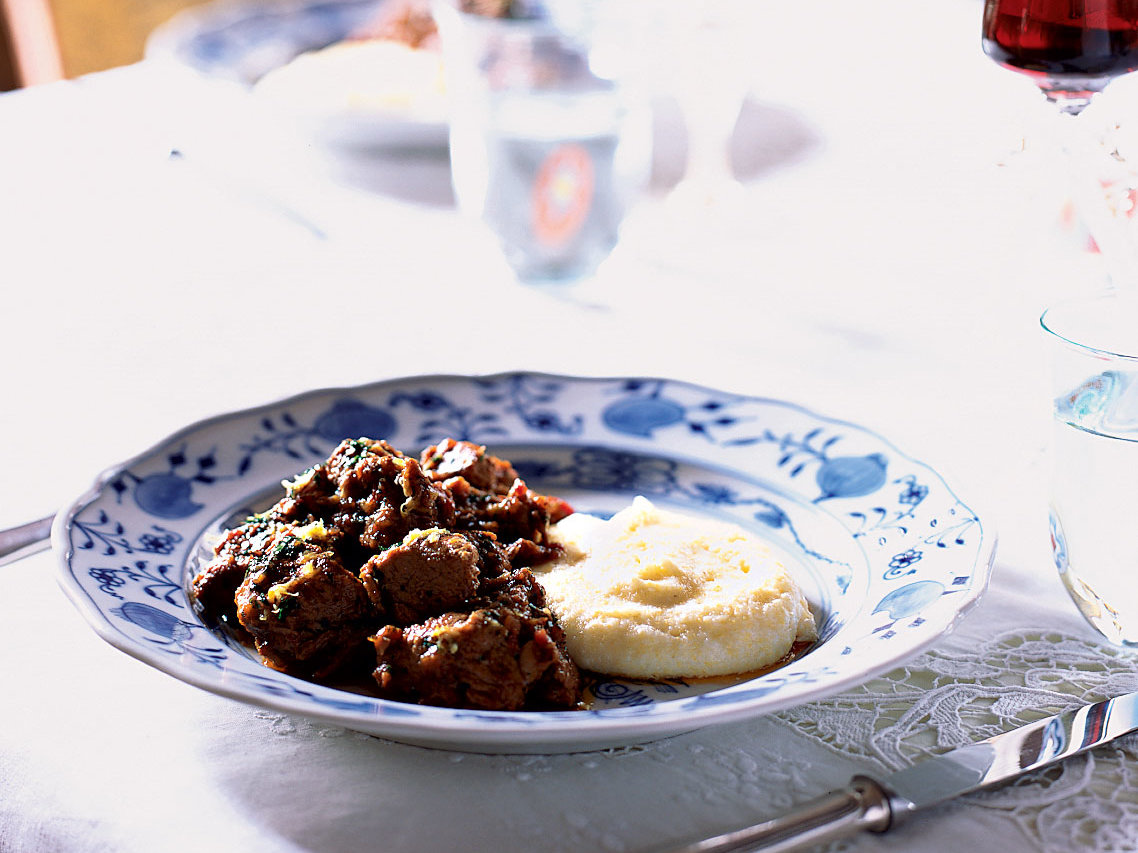 Veal with chocolate flavor