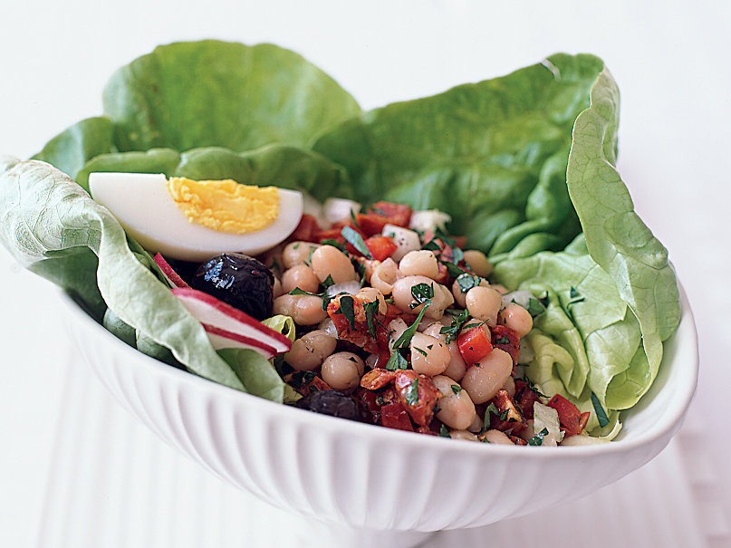White Bean and Chorizo Salad with Olives