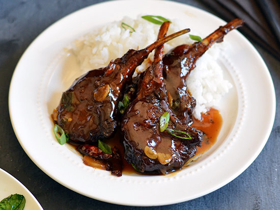 Chinese Spicy, Sweet and Sour Lamb Chops