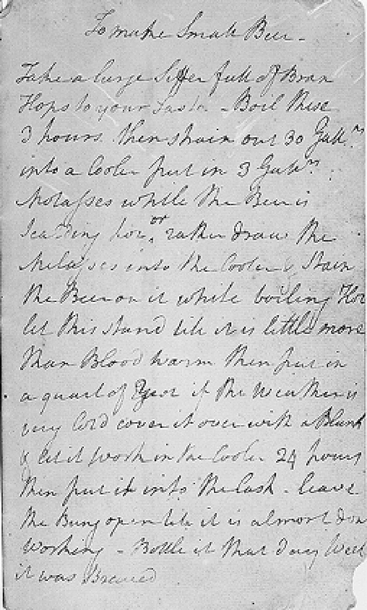 Budweiser's New Beer Is Based on a Handwritten Recipe from George Washington
