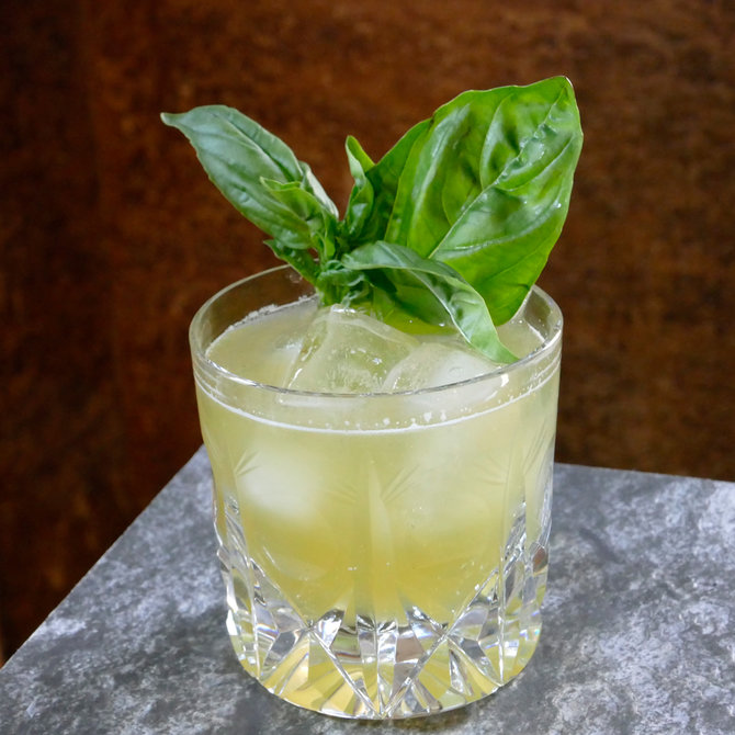 Food & Wine: Basil & Whiskey Cocktail