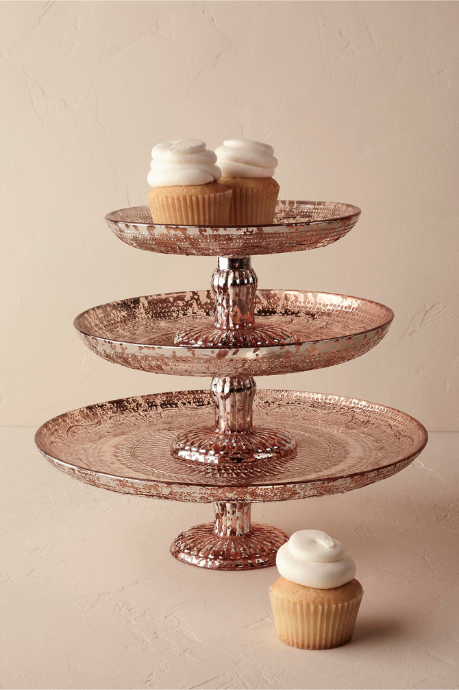 Rose Gold Wedding Cake Serving Set