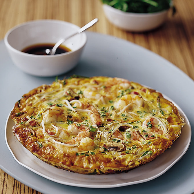 Food & Wine: Oven-Baked Asian Omelet