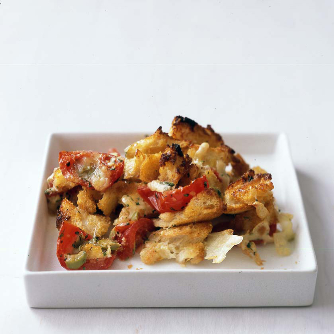 Food & Wine: Cheesy Tomato-Bread Strata