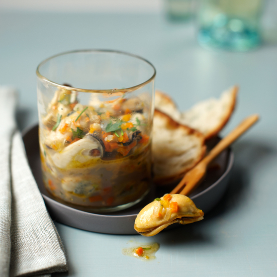 Food & Wine: Pickled Mussels