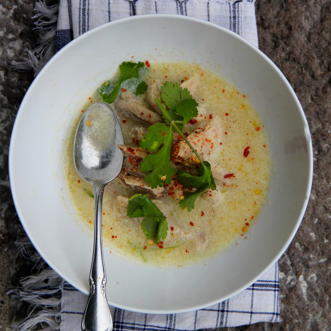 Food & Wine: Turkey and Egg Drop Soup