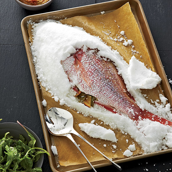 how to bake whole fish in sea salt