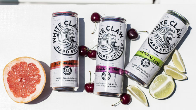 Food & Wine: White Claw Hard Seltzer, spiked seltzer