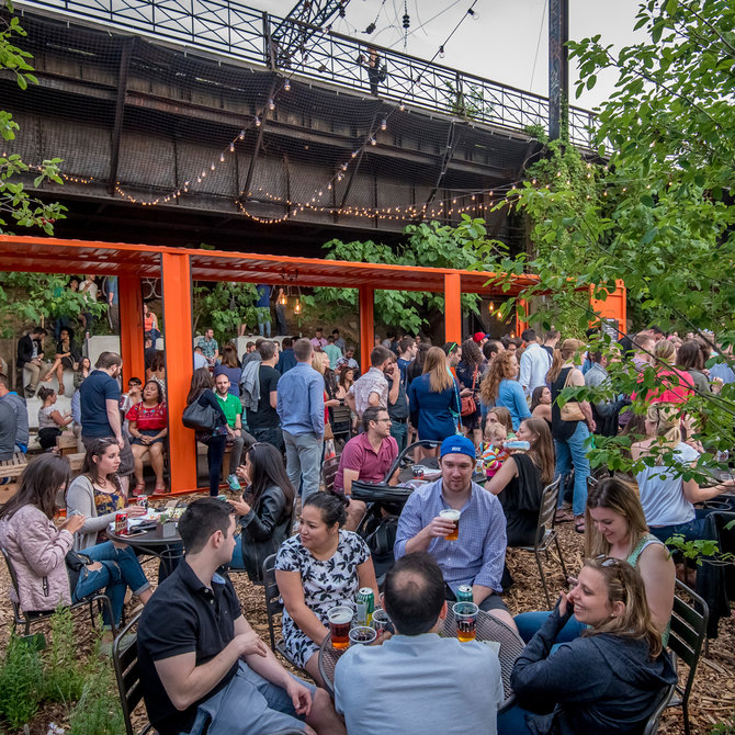 Food & Wine: PHS Garden at Viaduct Rail Park