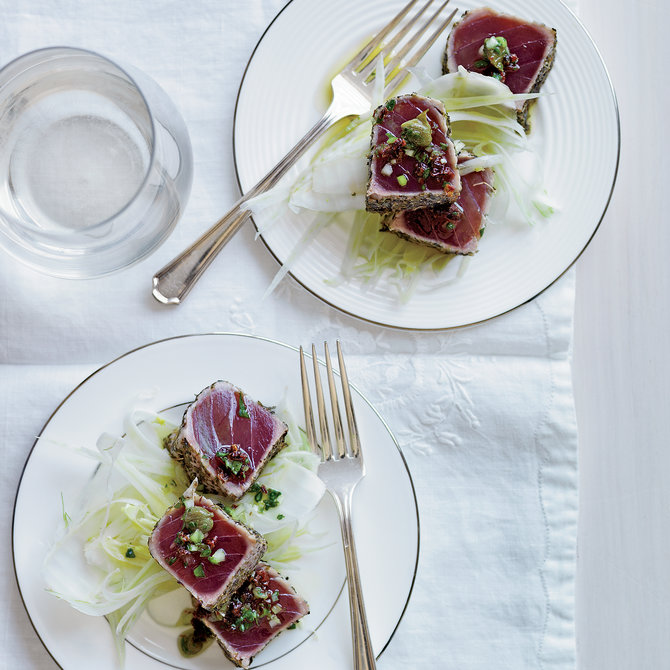Food & Wine: Seared Tuna with Sauce Vierge