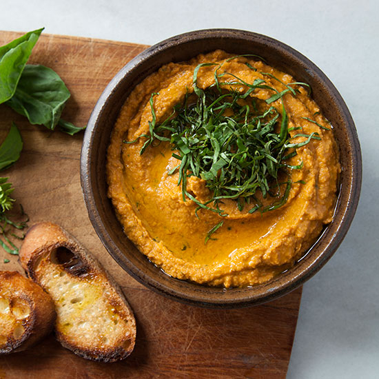Food & Wine: Roasted Tomato-Basil Hummus