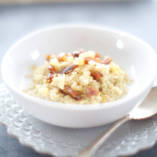 Food & Wine: Coconut Quinoa Porridge with Ginger and Dates