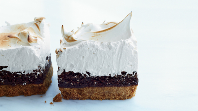 Food & Wine: S'mores Bars with Marshmallow Meringue
