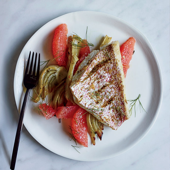 Food & Wine: Fennel-and-Grapefruit Rubbed Snapper