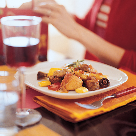 Food & Wine: Ragout of Chicken with Potatoes and Chorizo