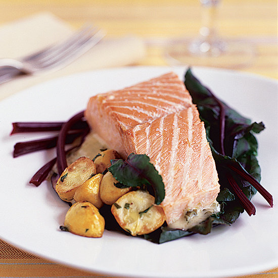 Food & Wine: Salt-Baked Salmon with Prosecco Butter Sauce