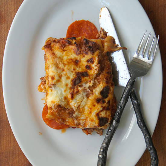 Food & Wine: Pizza Lasagna