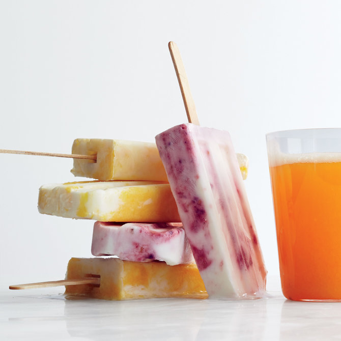 Food & Wine: Marbled Smoothie Pops