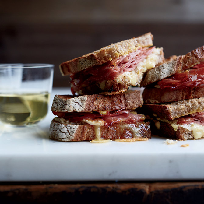 Food & Wine: Mortadella Reubens with Lemon Aioli