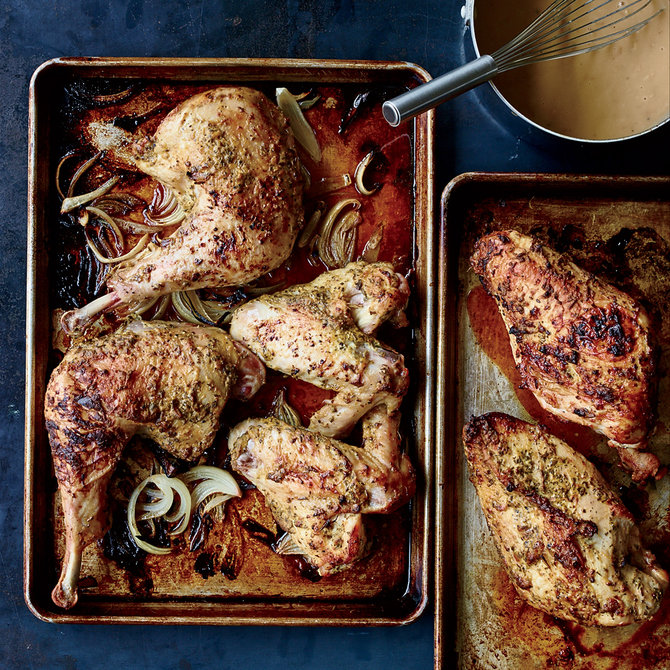 Food & Wine: Mustard-and-Rosemary Roast Turkey