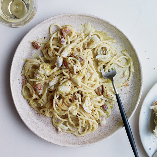 Food & Wine: Spaghetti with Corn Carbonara and Crab