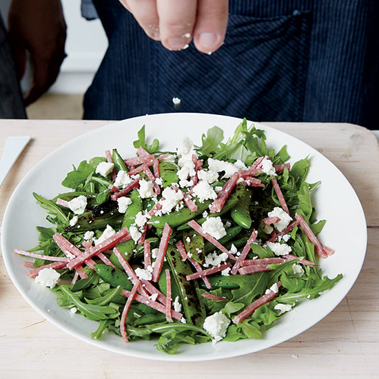 Food & Wine: Blistered Snap Peas with Salami and Feta