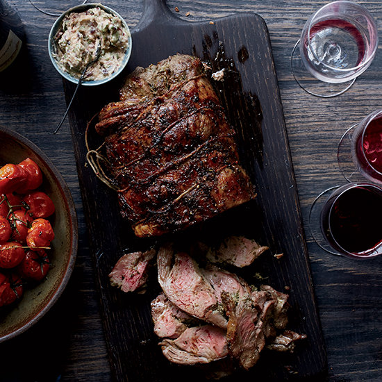 Food & Wine: Herbed Leg of Lamb with Olive Butter and Roasted Tomatoes
