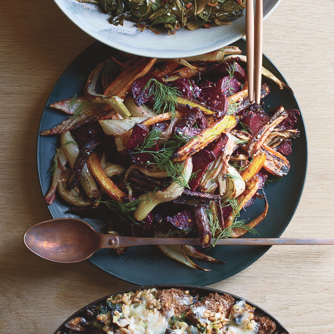 Food & Wine: Caramelized Vegetables with Dijon Butter