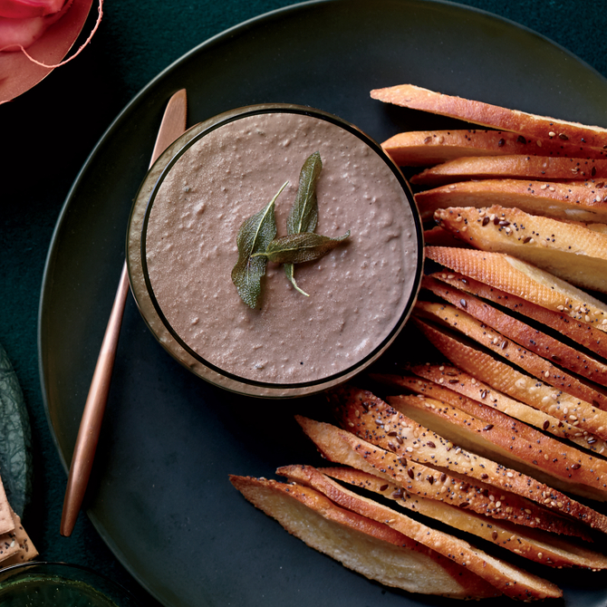 Food & Wine: Chicken Liver Pate with Green Peppercorns