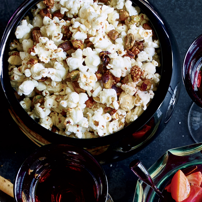 Food & Wine: Popcorn with Sesame-Glazed Pistachios