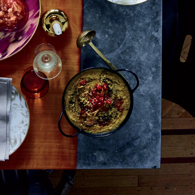 Food & Wine: Red Lentil Dal with Mustard Seeds