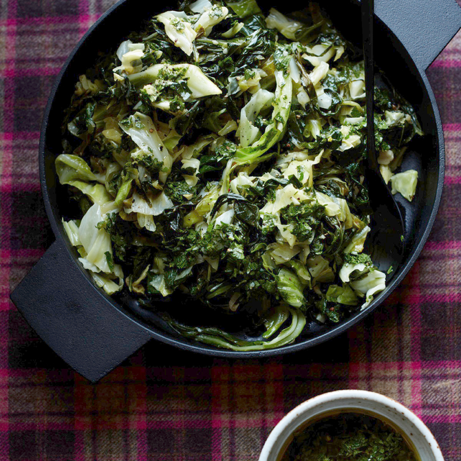 Food & Wine: Sauteed Collards and Cabbage with Gremolata