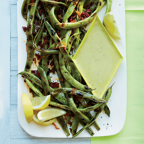 Food & Wine: Cast-Iron-Grilled Roman Beans with Garlic Aioli