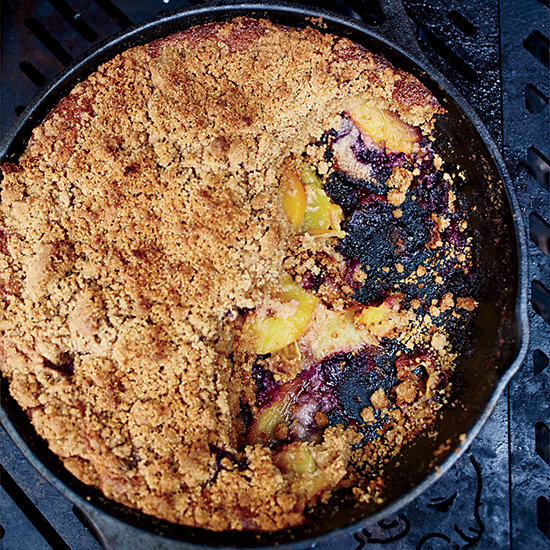 Food & Wine: Skillet Graham Cake with Peaches and Blueberries