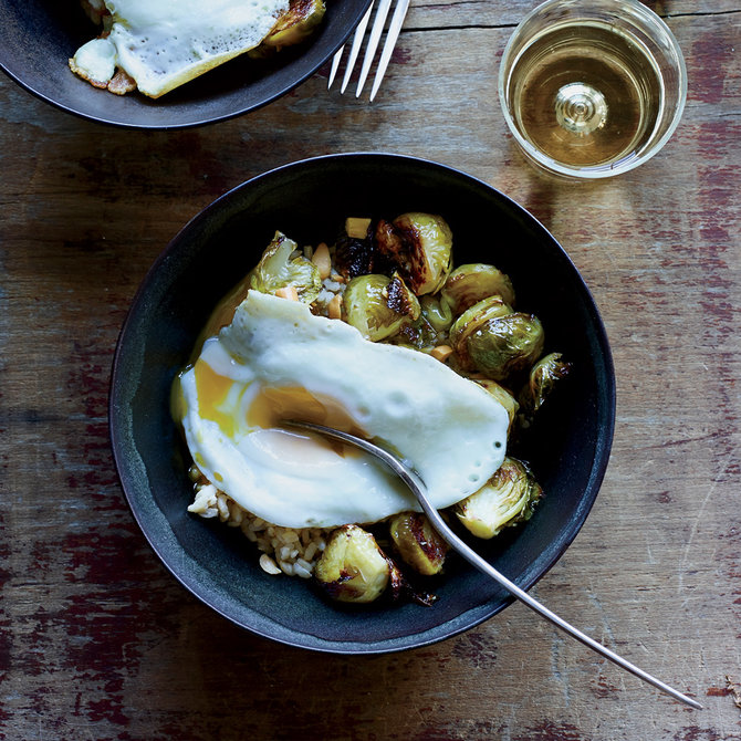 Food & Wine: Roasted Brussels Sprouts with Peanuts and Fish Sauce