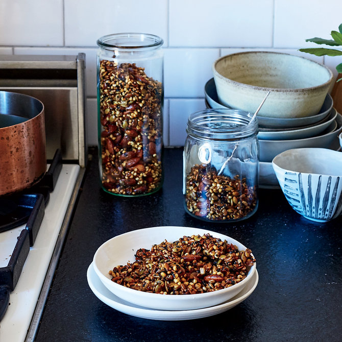 Food & Wine: Sweet and Spicy Black Sesame Seed and Nut Mix
