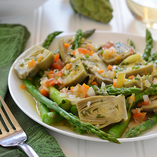 Food & Wine: Spring Vegetable Barigoule