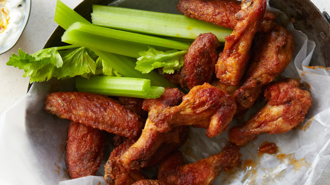 Food & Wine: Hot wings and celery