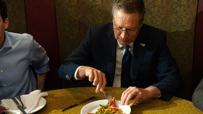 Food & Wine: John Kasich Eating Pizza