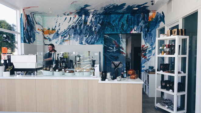 Food & Wine: The mural at the Den