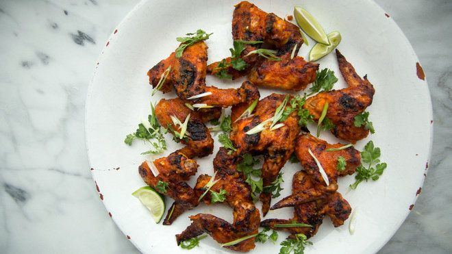 Food & Wine: Kimchi-Glazed Chicken Wings