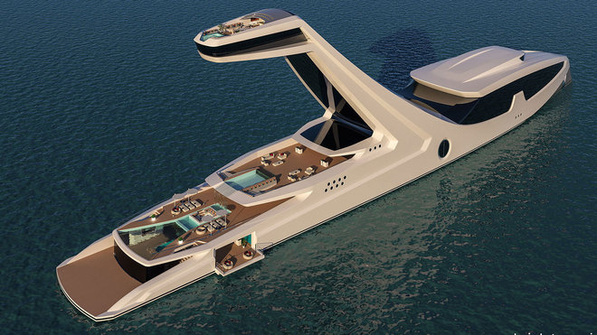 Food & Wine: Take a Peek at the Outlandish Plans for the World's Tallest Yacht