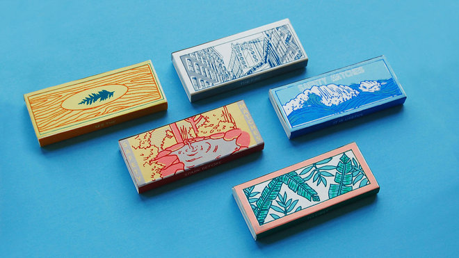 Food & Wine: matchboxes