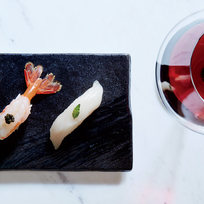 Food & Wine: Red Wine and Sushi